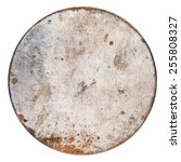 Rusty Round Metal Plate...