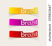 realistic design element  brazil | Shutterstock . vector #255813667