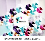 geometric abstract polygonal... | Shutterstock . vector #255816043