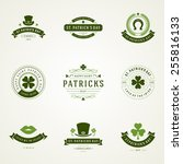 typographic saint patrick's day ...