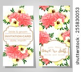wedding invitation cards with...   Shutterstock . vector #255830053