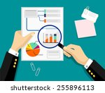 vector graph flat illustration | Shutterstock .eps vector #255896113