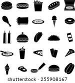 fast food symbols set   Shutterstock .eps vector #255908167