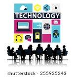 technology social media... | Shutterstock . vector #255925243