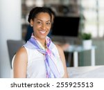 young woman in an office | Shutterstock . vector #255925513