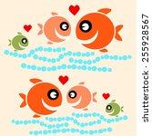 cute fish cartoon   | Shutterstock .eps vector #255928567