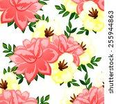 abstract elegance seamless... | Shutterstock .eps vector #255944863