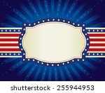 4th of july retro frame with... | Shutterstock .eps vector #255944953