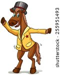 a horse with a magician's hat... | Shutterstock .eps vector #255951493
