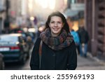 portrait of a stylish pretty... | Shutterstock . vector #255969193