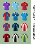 italian soccer t shirts | Shutterstock .eps vector #255982357