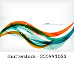 green and orange lines modern... | Shutterstock .eps vector #255991033