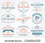 Colored Seafood Labels And...