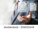 business button file icon web... | Shutterstock . vector #256010143