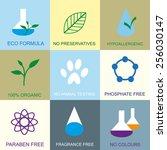 organic flat icons. | Shutterstock .eps vector #256030147