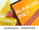 Small photo of alkaline diet on tablet.