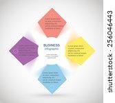template for diagram  graph ... | Shutterstock .eps vector #256046443