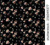 roses seamless pattern    Shutterstock . vector #256049377