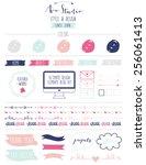 ultimate design elements blog...   Shutterstock .eps vector #256061413