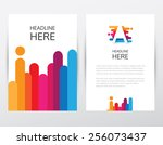 creative bright colorful... | Shutterstock .eps vector #256073437