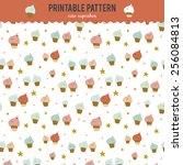 Cute Funny Seamless Pattern...