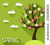 seasonal illustration with... | Shutterstock .eps vector #256085833