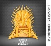 illustration of throne made of... | Shutterstock .eps vector #256097047