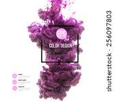 vector abstract cloud. ink... | Shutterstock .eps vector #256097803