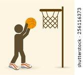 basketball sport design  vector ... | Shutterstock .eps vector #256116373