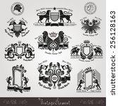 Set Vintage Silhouette Heraldi...