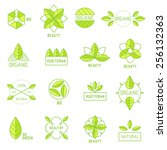 ecology icons set  elements for ... | Shutterstock .eps vector #256132363