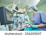surgery assistant nurse working ... | Shutterstock . vector #256205047