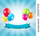 Colored Balloons Background ...