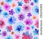 abstract watercolor flower... | Shutterstock .eps vector #256231003