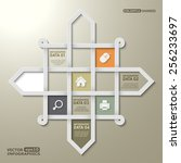 infographic window shape of 3d... | Shutterstock .eps vector #256233697
