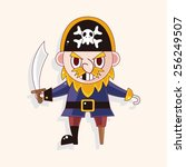 pirate theme elements | Shutterstock .eps vector #256249507