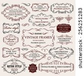 vector vintage collection ... | Shutterstock .eps vector #256251283