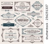 vector vintage collection ... | Shutterstock .eps vector #256251337