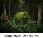 Little House Of Moss In An...