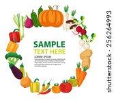 vegetables vector illustration.  | Shutterstock .eps vector #256264993