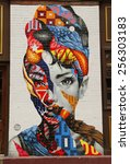 Постер, плакат: Mural art Audrey of