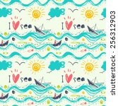 seamless pattern in the concept ... | Shutterstock .eps vector #256312903