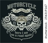 motorcycle design template logo.... | Shutterstock .eps vector #256319167