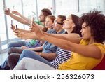fashion students taking a... | Shutterstock . vector #256326073