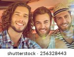Hipster Friends On Road Trip O...