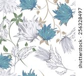 succulent plants seamless... | Shutterstock .eps vector #256328497