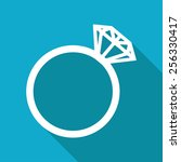 vector flat wedding ring icon... | Shutterstock .eps vector #256330417
