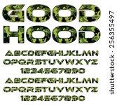 decorative font   green...   Shutterstock .eps vector #256355497