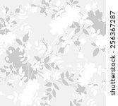 seamless flower pattern. floral ... | Shutterstock .eps vector #256367287