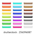 set of colorful 3d plastic web... | Shutterstock . vector #256396087